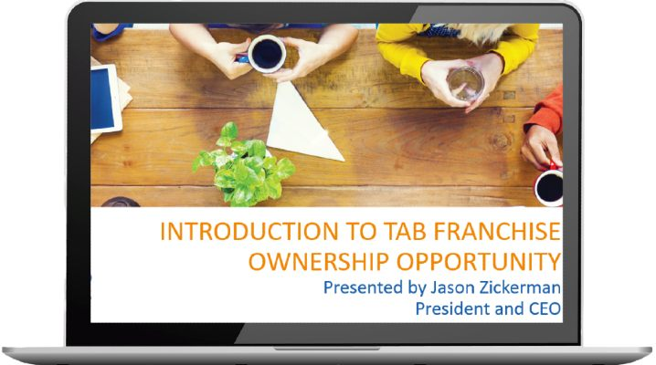 Image of webinar Introduction to TAB Franchise Ownership presented by Jason Zickerman President and CEO